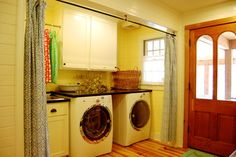 traditional laundry room by Corynne Pless