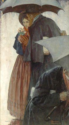 Jo March and Professor Friedrich Bhaer -  Heart's Dearest by Norman Rockwell