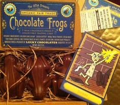 """Harry Potter Alliance Organic Fair Trade Chocolate Frogs. $9.75  """"For a limited time, get the HPA's very own chocolate frogs made out of certified fair trade organic dementor scaring milk chocolate. We're trying to show Warner Brothers that they can support children's rights and keep the dementors at bay by switching to Fair Trade chocolate."""""""