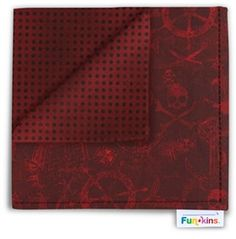 Now a pirate party for the kids wouldn't be complete without a A Pirate's Life for Me Funkin in Burgundy. Funkins are bright, reusable cloth napkins made especially for kids. http://www.myfunkins.com/A-Pirate-s-Life-for-Me-s/1837.htm