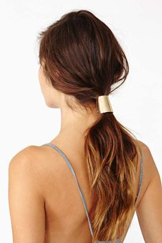 Gold Ponytail Clip