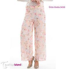 Modesty - Çiçek Desenli Pantolon 99,90 TL yerine sadece 59,90 TL! Ürün Kodu:3430 Beden seçenekleri :36-38-40-42-44 BAYRAM FIRSATLARINDAN YARARLANMAK HEMEN İÇİN TIKLAYIN: www.tesetturisland.com
