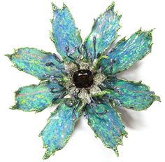 Wallace-Chan-Opal-Sapphire-Garnet- Diamonds - Gold-Flower Ring.