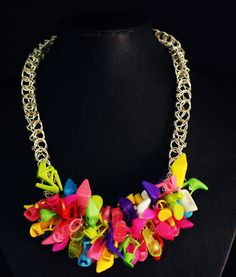 Barbie Shoes Necklace.  #upcycle