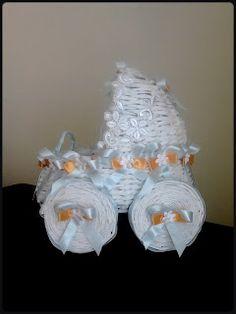 www.origami-pasja.blogspot.com: Wózek nr 1 - papierowa wiklina