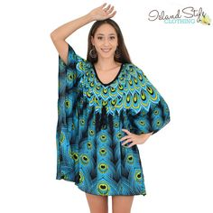 Ladies Kaftan Turquo