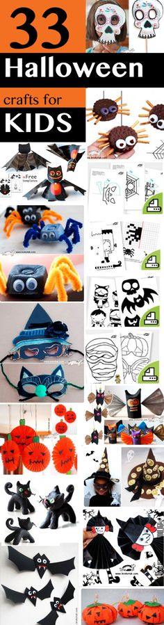 33 Halloween crafts for kids--cute printables and spider craft