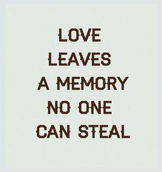Love leaves a memory