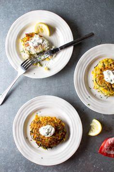 zucchini & corn parmesan fritters