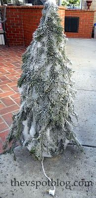 tomato cage trees, could be used all winter...click on blog link for how-to!