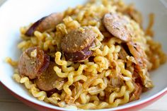 Curry wurst- a German street food (yum) made into noodles