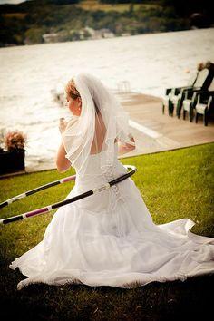 hula hoop wedding.