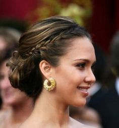 french braids, wedding ideas, new hair, prom hair, bridal hair, braid hair, jessica alba, wedding hairstyles, bridesmaid hairstyles
