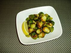 Meatless Mediterranean: Roasted Brussels Sprouts with Garlic and Lemon