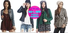 WetSeal.com: 40% off Jackets & Coats + Add'l 10% off!  Prices Start @ $14.39!