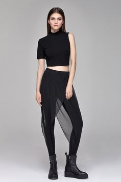 Sheer Layered Leggings BLACKBLESSED  BLACKBLESSED @blackblessed #black #white #fashion #minimal #basic #elegant #designer #urban #urbanchic #dresses #pants #tshirt #top #leggings #white #simple #simplicity