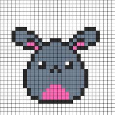 Bunny Egg Perler Bead Pattern | Bead Sprites | Animals Fuse Bead Patterns