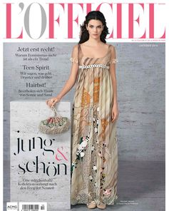 Campaign star Kendall Jenner poses for the latest cover of L'Officiel Germany in a fantastical, princess-y Legends and Fairy tales gown.