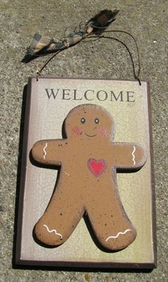 CWP-7 Gingerbread Welcome  5 1/2