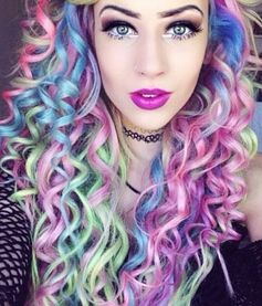 Rainbow dyed hair