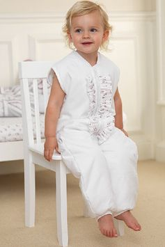 Twinkle Tog - White Frill sleeping bag for tots who wish to keep their toes free!