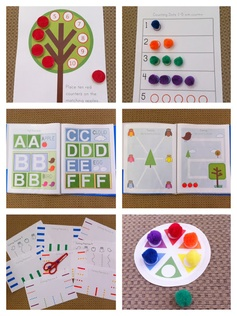 Huge printable preschool tot pack for toddlers! Theme includes owls, birds, and trees--great for spring! So many activities and worksheets... tracing, matching, counting, coloring, cutting, numbers, and alphabet! Hmmm... great for a rainy day!