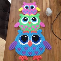Owls hama perler beads by nadiaelfahem - Pattern: http://de.pinterest.com/pin/374291419001541951/