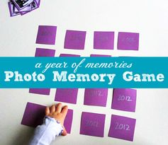 Awww. I love this. Memory game made from family photos taken throughout the year.