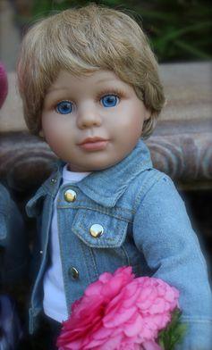 """Harmony Club Dolls 18"""" boy doll, Cameron. SHOP www.harmonyclubdolls.com"""