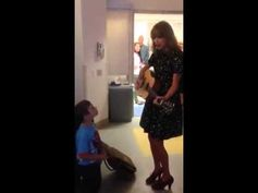 Taylor visits Jordan at Boston Children's Hospital