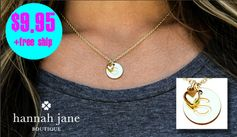 Hannah Jane:  14k Gold-Plated Initial Pendant Necklace w/ Heart Charm = $9.95 + FREE Shipping! Regularly $24.99!