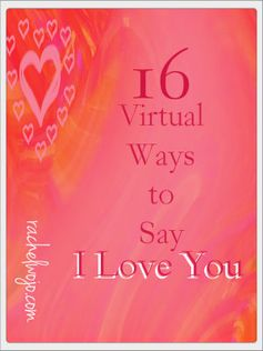 Ideas for Saying I Love You using technology and social media- a few great ways to let hubby know he's loved!
