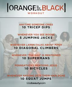 """TV-Inspired Workouts """"Orange is the New Black"""""""