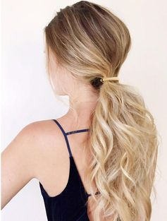 Hairstyles for Girls Who Can't Style Their Hair | Clipped Low Ponytail