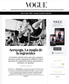 YOGA AERIEN, AY, AERO YOGA VOGUE MAGAZINE, STAGE ENSEIGNANTS, PROFESSEURS  #‎yOGA‬ ‪#‎Pilates‬ ‪#‎health‬ ‪#‎yogaswing‬ ‪#‎ACROYOGA‬ ‪#‎yogaaereo‬ ‪#‎pilatesaereo‬ ‪#‎deporte‬ ‪#‎wellness‬ ‪#‎bienestar‬ ‪#‎sante‬ ‪#‎bienetre‬ ‪#‎salud‬ ‪#‎POSE‬ ‪#‎rafaelmartinez‬ ‪#‎aereo‬ ‪#‎columpio‬ ‪#‎acrobático‬ ‪#‎courses‬ ‪#‎workshop‬ ‪#‎cursos‬ ‪#‎Teacherstraining‬ ‪#‎Sport‬ ‪#‎Aerial‬ ‪#‎silks‬ ‪#‎telas‬ ‪#‎benefits‬ ‪#‎beneficios‬ ‪#‎vaihayasa‬