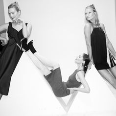 Karlie Kloss, Coco Rocha and Toni Garrn make a beautiful model squad at the BOSS & W Magazine party