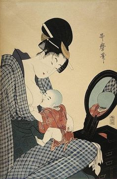 Japanese Art Depicting Breastfeeding - 1700s | Community Post: 25 Historical Images That Normalize Breastfeeding