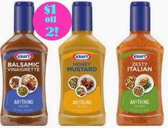 Kraft:  $1 off 2 Dressings Coupon!