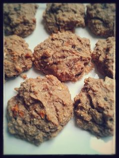 Carrot cake oatmeal cookies - no sugar!! perfect for a toddler dessert or breakfast on the go,