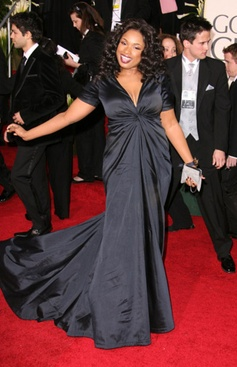 Jen Hudson, statuesque in Black