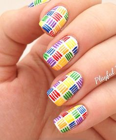 Rainbow Nails: Fab Flecks