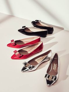 Streamlined, modern yet classically Ferragamo, introducing the season's reimagined Varina ballerina flats, part of the new Spring 2017 collection. http://bit.ly/2iFA7GK