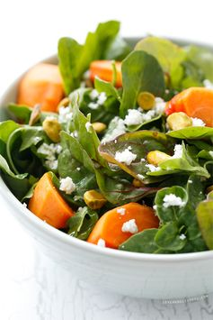 Persimmon Salad with Blood Orange Vinaigrette - The Blood Orange Vinaigrette provides a sweetness to this salad.