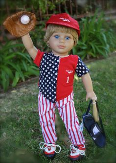 "Complete Baseball Sets for Dolls, 18"" Boy Dolls and More. Available at www.harmonyclubdolls.com"