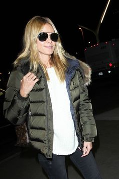Heidi Klum arrives at LAX.