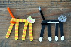 Popsicle stick animals   #totschool