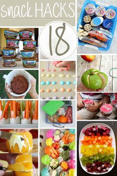 18 Kid-Friendly Snack Hacks - There are some very handy and clever tips in this list!