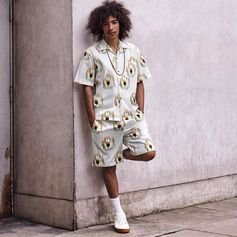 The guys stand out in graphic floral prints this season. Make it a match and co-ordinate your shorts and shirt for a fuss-free approach to summer style.