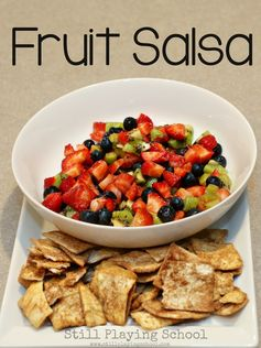 Fruit Salsa Recipe for Kids from Still Playing School