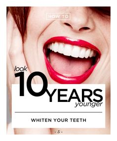 Make Over Your Mouth to Shave Off Five Years